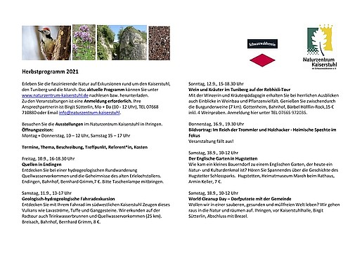 2021 Herbstprogramm 26.08.2021